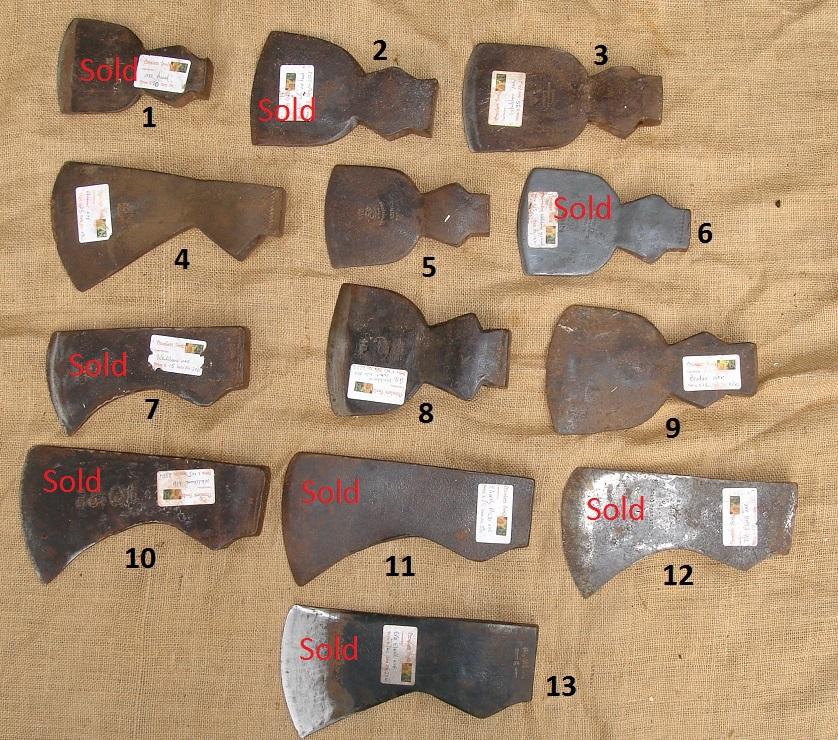 old axe heads